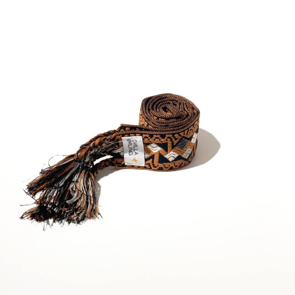 Camilla Øhrling knytebelte Brown/Black